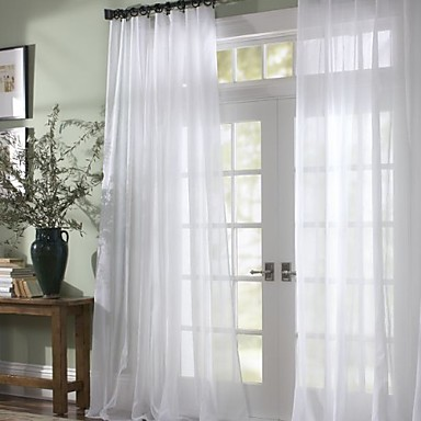 "cheap Window Treatments-Custom Made Sheer Sheer Curtains Shades Two Panels 2*(50W×96""L) / Bedroom"