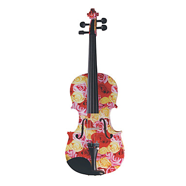 Kinglos - (XC-1003) 4/4 Rose Design Solid Spruce Violin Outfit
