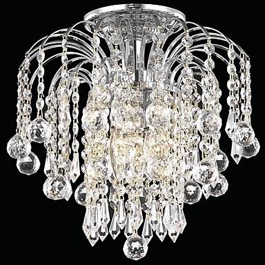 QINGMING® 3-Light Montaj Flush Lumini Ambientale - Cristal, Stil Minimalist, 110-120V / 220-240V Becul nu este inclus / 30-40㎡