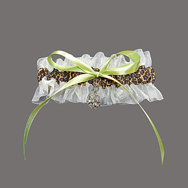 Organza Satin Fashion Wedding Garter with Leopard Print Garters