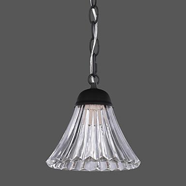 60w lampada a sospensione dal design moderno in vetro ombra semplice