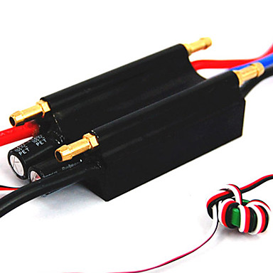 90A 2-6S Lipo Water cooling Programmable Brushless Speed Controller ESC for Boat