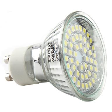 3W 250-300lm GU10 LED-kohdevalaisimet MR16 48 LED-helmet SMD 3528 Neutraali valkoinen 220-240V