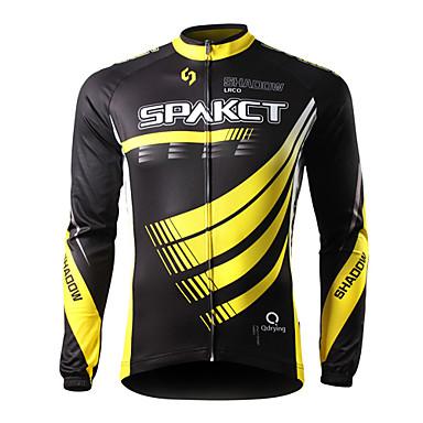 SPAKCT Bisiklet Forması Erkek Bisiklet Forma Üstler Bahar Bisiklet Elbiseleri Hızlı Kuruma Ultravioleye Karşı Dayanıklı Giyilebilir Nefes