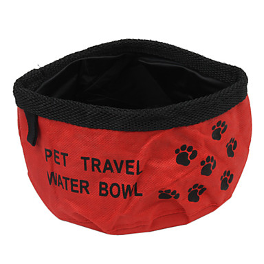 L Cat Dog Bowls & Water Bottles Pet Bowls & Feeding Portable Foldable Red Blue