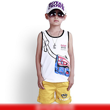 Cartoon Bag Printed Vest with Short Pant
