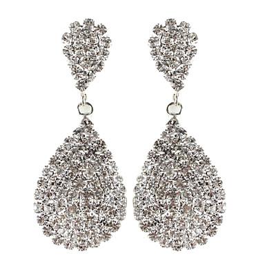 abordables Boucle d'Oreille-Femme Boucle d'Oreille Pendantes Fleur Mariage Strass Imitation Diamant Des boucles d'oreilles Bijoux Pour Quotidien