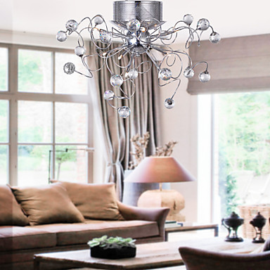 Modern Contemporary Crystal Chandeliers Flush Mount