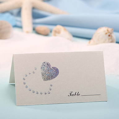olcso Ültetőkártyák és tartók-hely kártyákat és tartók hely kártya - kettős szív (sor 12)