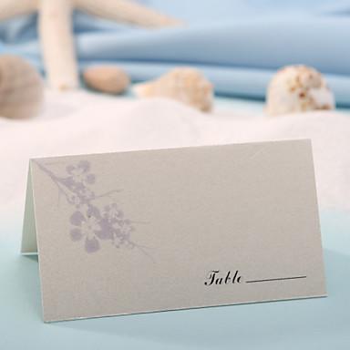 yer kartı - erik çiçeği (12 set) plakalı tutamaklar düğün alımı