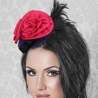 Elegant Acrylic With Feather Women's Fascinators