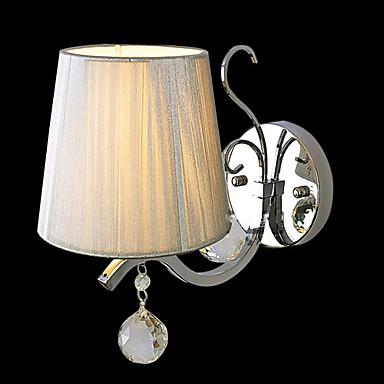 Elegante y metal 40W Lámpara de pared de tela con una luz en función Vela
