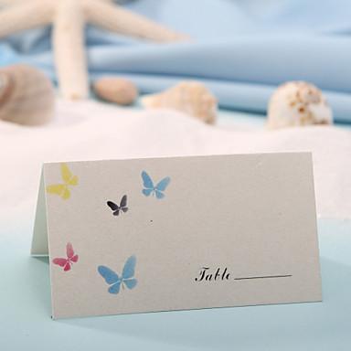 yer kartları ve sahipleri yer kartı - kelebek (12 kümesi) düğün