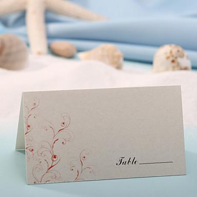 Tischkarten und Halterungen Tischkarte - rote Blume print (Satz 12)