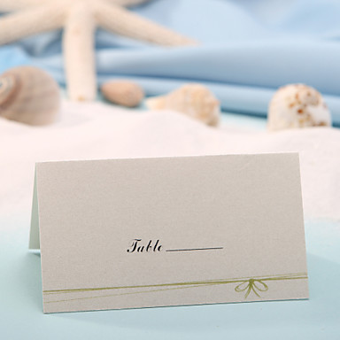 yer kartı - yeşil yay (12 set) plakalı sahipler düğün tezgahı