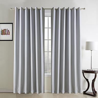 Schlaufen für Gardinenstange Ösen Schlaufen Zweifach gefaltet Window Treatment Modern Solide Wohnzimmer Polyester Stoff Vorhänge drapiert