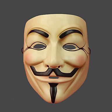 V für Vendetta Maske Herrn Damen Halloween Karneval Silvester Fest / Feiertage Halloween Kostüme Druck
