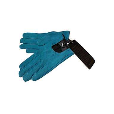 Pigskin Leather Fingertips Wrist Length Gloves (More Colors)