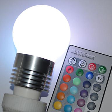 450lm E26 / E27 LED-globepærer G45 5 LED Perler Højeffekts-LED Fjernstyret RGB 100-240V