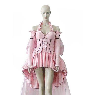 Inspirerad av Chobits Chii Animé Cosplay-kostymer cosplay Suits Klänningar Lappverk Långärmad Klänning Till Dam