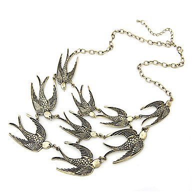 Women's Bird Vintage Necklace Statement Necklace  -  Animal Design Fashion Adjustable Golden Necklace For Party Daily