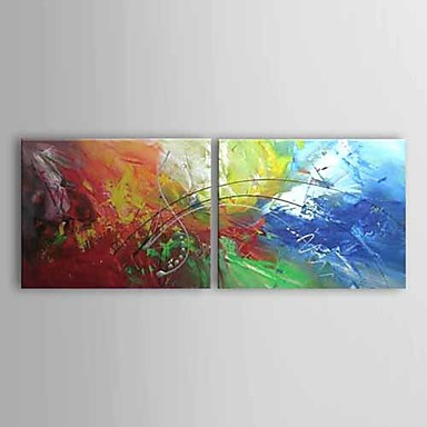 Oil Painting Hand Painted - Abstract Comtemporary Canvas