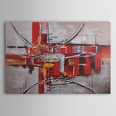 Hand-Painted Abstract Horizontal Canvas Oil Painting Home Decoration One Panel