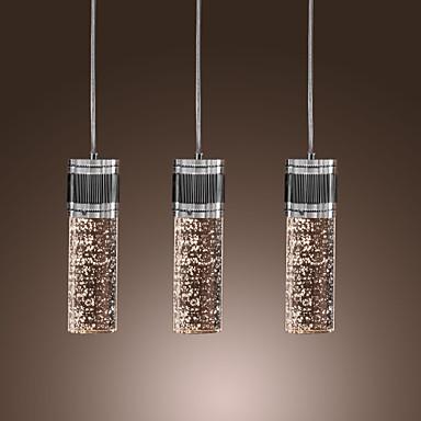 kunstnerisk vedhæng lys med 3 lys - cylinder skygge MR11 pære