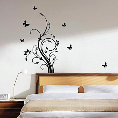 autocolant de perete - lăstari romantice (0565 - gz001)