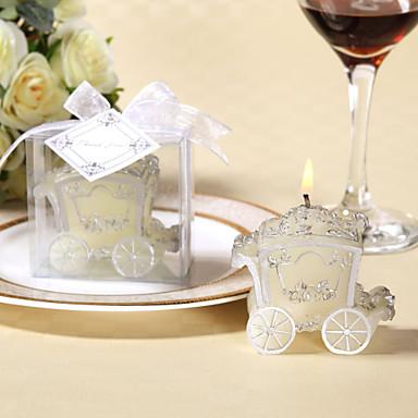 hopeiset ruusu kuljetus kynttilä (4 kpl)