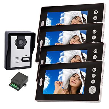 konx® langaton hämäränäön kamera 7 tuuman ovipuhelin monitori (1camera 4 näytöt)