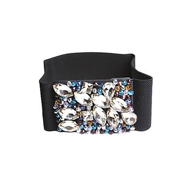 Prachtige Spandex Met Crystal Women's Fashion / Party Belt