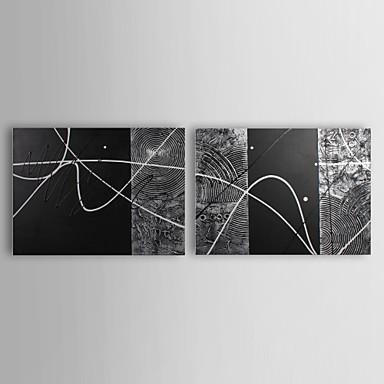 Hang-Boyalı Yağlıboya Resim El-Boyalı - Soyut Çağdaş Tuval