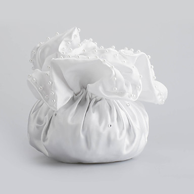 Charming Satin with Imitation Pearls Wedding Bridal Purse(More Colors)