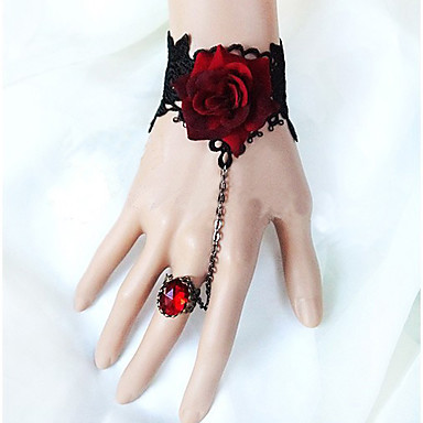 Women's Vintage Lace Flower Bracelet/Ring