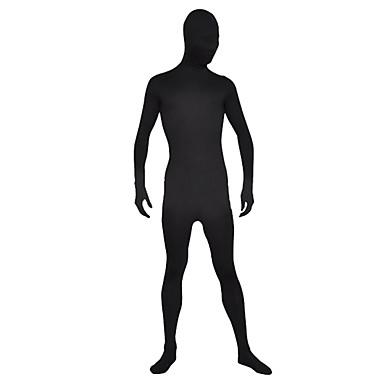 Zentai Kıyafetleri Ninja Zentai Cosplay Kostümleri Siyah Solid Strenç Dansçı / Tulum Zentai Spandeks Likra Erkek Kadın's Cadılar Bayramı