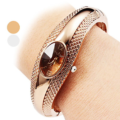 Women's Ladies Bracelet Watch Quartz Silver / Bronze Casual Watch Analog Casual Bangle Fashion Elegant - Silver Bronze