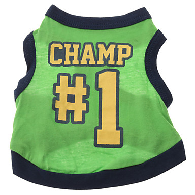 Dog Shirt / T-Shirt Jersey Dog Clothes Letter & Number Cotton Costume For Pets