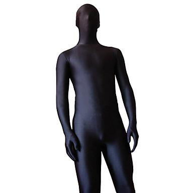 Zentai Anzüge Ninja Zentai Kostüme Cosplay Kostüme Schwarz Solide Gymnastikanzug / Einteiler Zentai Kostüme Elasthan Lycra Herrn Damen Halloween / Hochelastisch