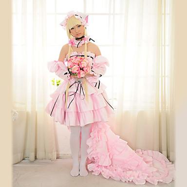 Inspirirana Chobits HZZO Anime Cosplay nošnje Cosplay Suits Dresses Kolaž Dugih rukava Suknja Haljina Rukavi Ogrlice Za Žene