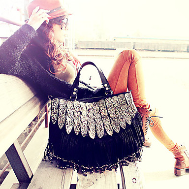 Women Bags PU Tote for Event/Party Casual All Seasons Black