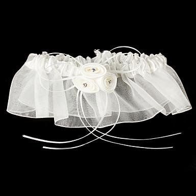 Satin Tüll Klassisch Hochzeitsstrumpfband  -  Blume Strumpfbänder