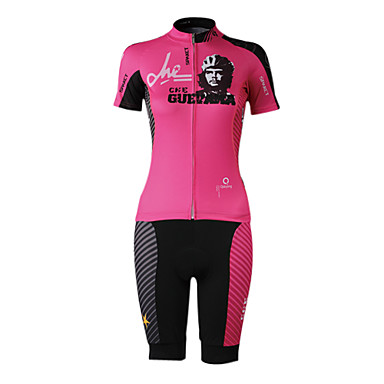 SPAKCT Cycling Jersey with Shorts Women's Short Sleeve Bike Jersey Shorts Clothing Suits Quick Dry Moisture Permeability Breathable
