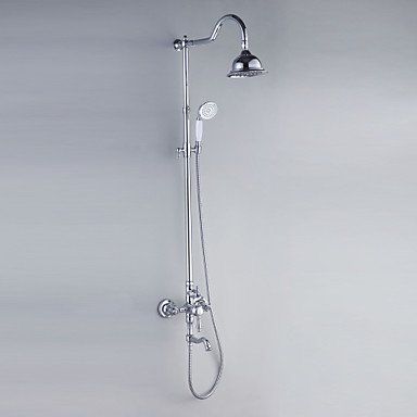 Duscharmaturen - Moderne Chrom Duschsystem Keramisches Ventil