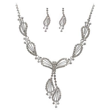 Damen Zirkon Schmuck-Set Ohrringe Halsketten - Party Modisch Silber Halskette / Ohrringe Für Party