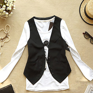 Women's Button Through Solid Colored Slim Vest