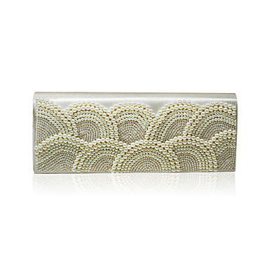 Elegant Satin with Pearls Evening Handbag/Clutches(More Colors)