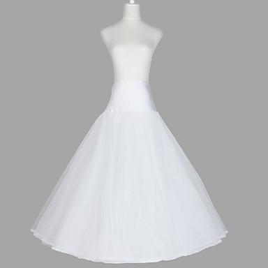 Düğün / Özel Anlar / Parti / Gece Slipler Organze / Tafta / Tül Yer-uzunluğunda A-Line Alt Giyimi / Klasik & Zamansız ile