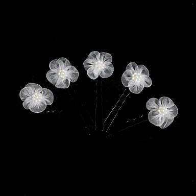 Tüll / Künstliche Perle / Aleación Kopfbedeckung / Haarnadel mit Blumig 1pc Hochzeit / Besondere Anlässe Kopfschmuck