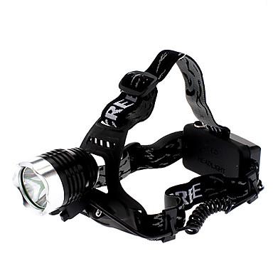 billige Lommelykter & campinglykter-LED Lommelygter Hodelykter Frontlys til sykkel LED Cree® XM-L T6 1 emittere 1000 lm 3 lys tilstand Oppladbar